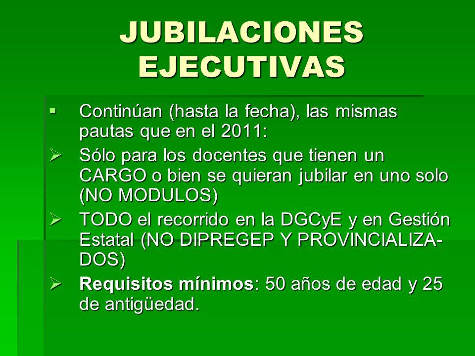 JUBILACIONES EJECUTIVAS
