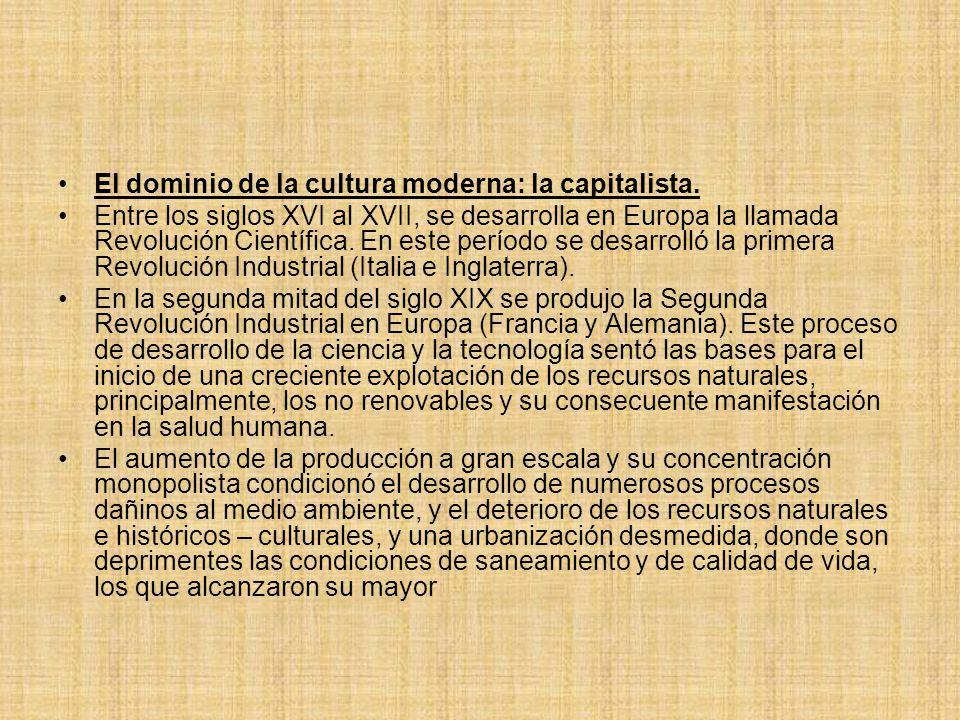 El dominio de la cultura moderna: la capitalista.
