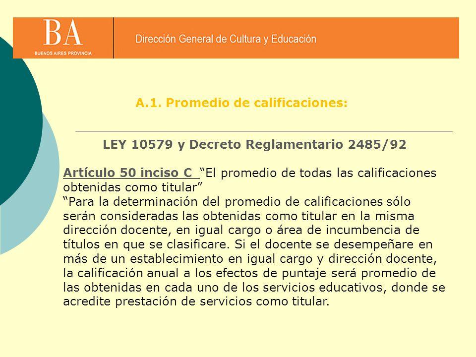 LEY 10579 y Decreto Reglamentario 2485/92
