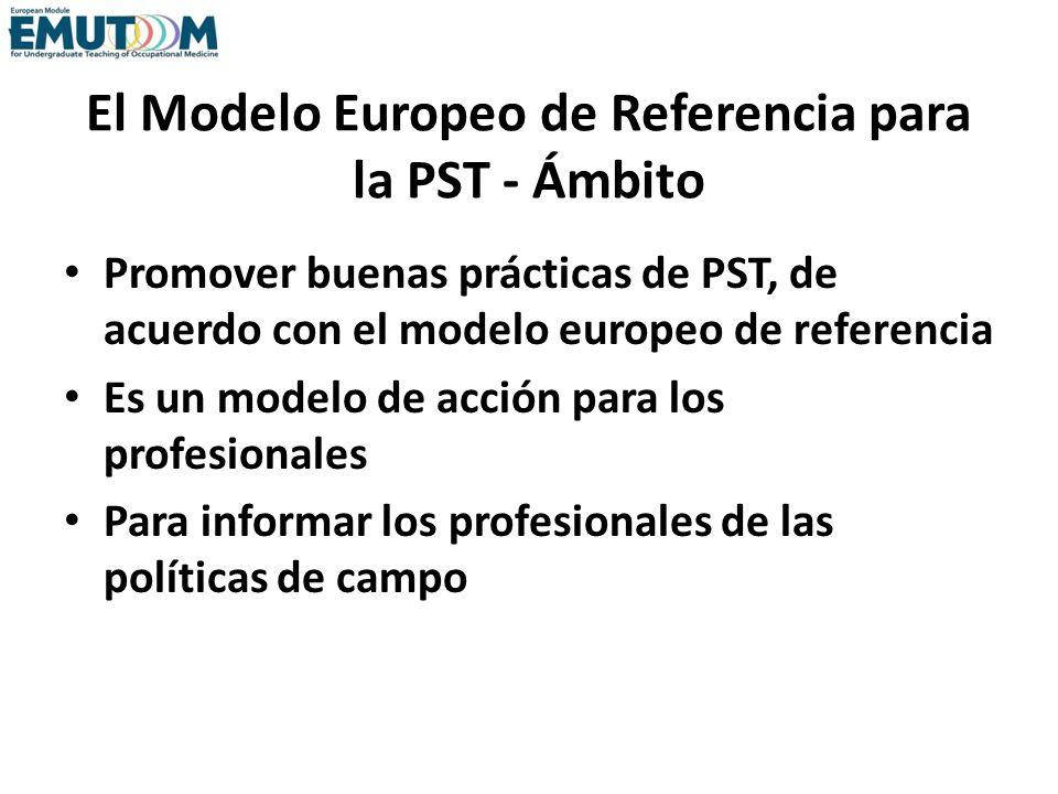 El Modelo Europeo de Referencia para la PST - Ámbito