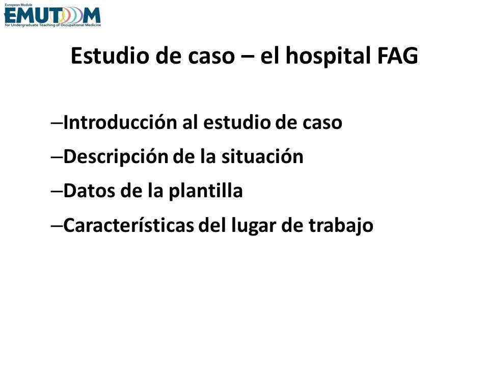 Estudio de caso – el hospital FAG