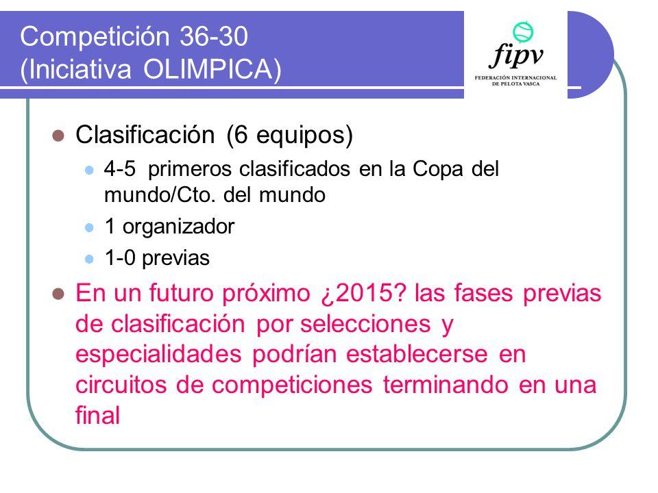 Competición 36-30 (Iniciativa OLIMPICA)