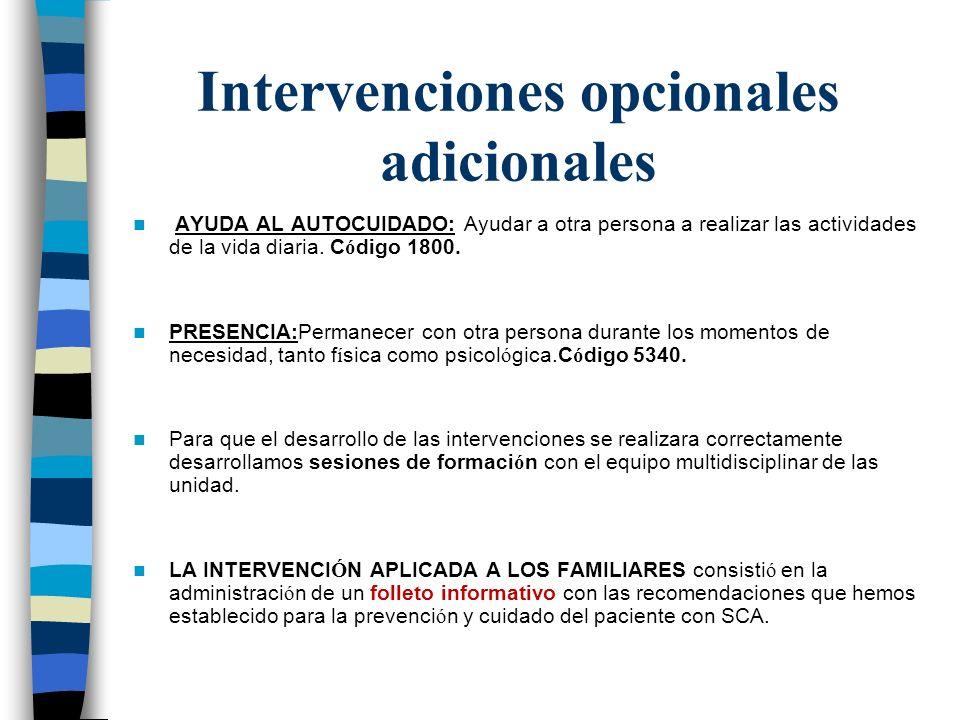 Intervenciones opcionales adicionales