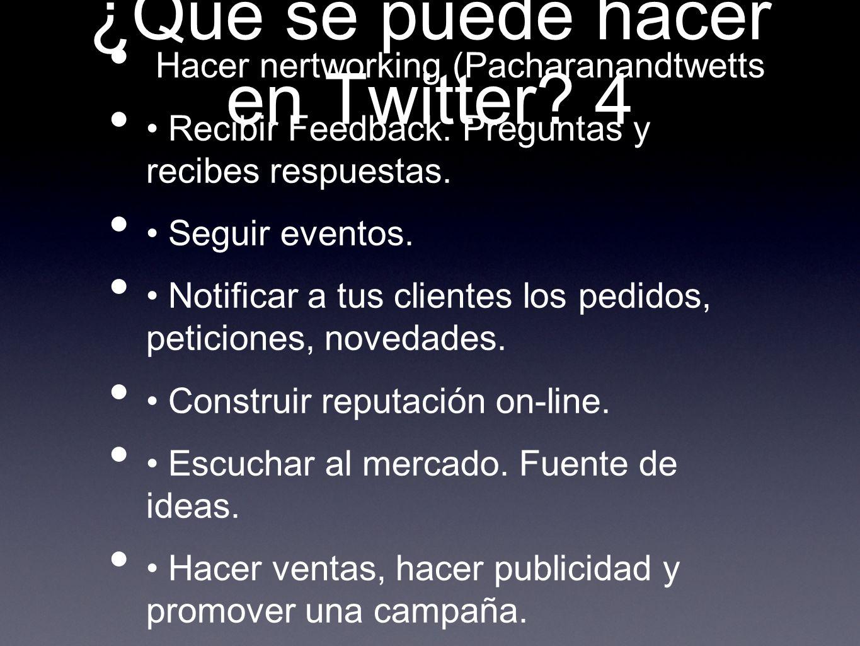 ¿Qué se puede hacer en Twitter 4