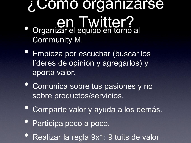 ¿Cómo organizarse en Twitter