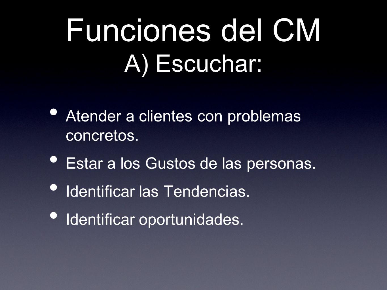 Funciones del CM A) Escuchar: