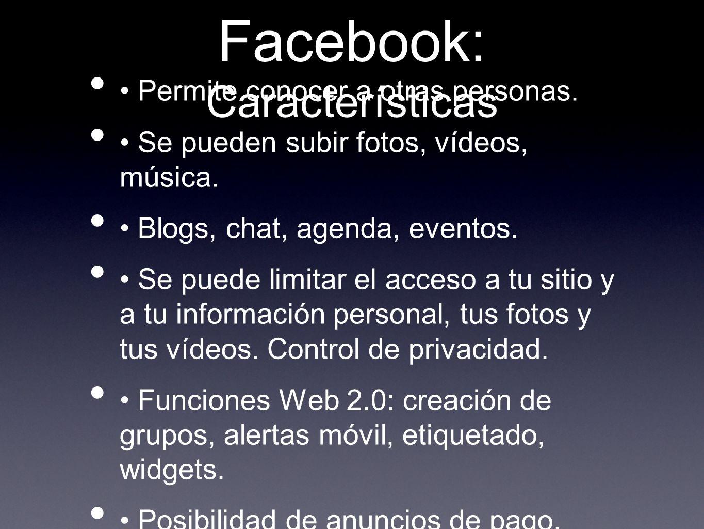 Facebook: Características