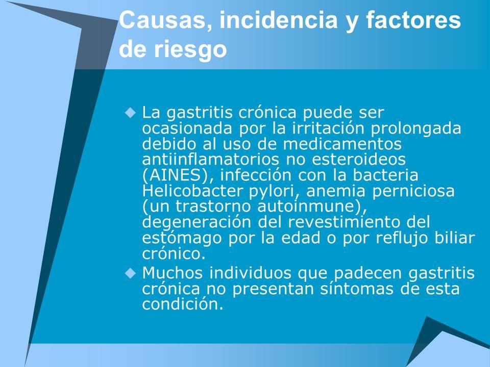 Causas, incidencia y factores de riesgo