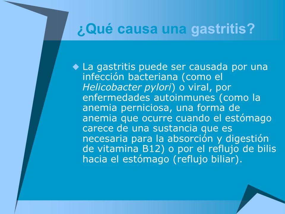 ¿Qué causa una gastritis