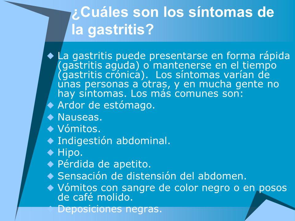 ¿Cuáles son los síntomas de la gastritis