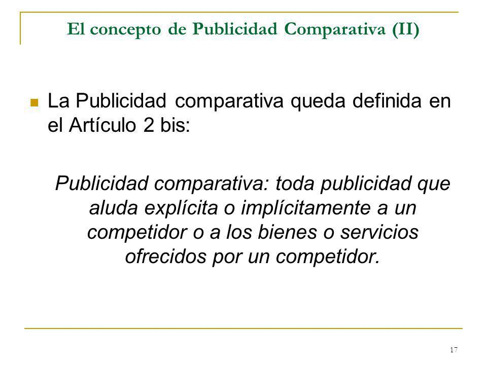 El concepto de Publicidad Comparativa (II)