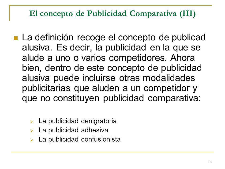 El concepto de Publicidad Comparativa (III)