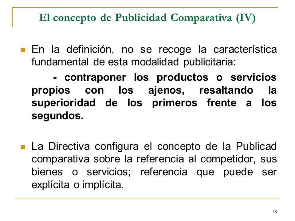 El concepto de Publicidad Comparativa (IV)