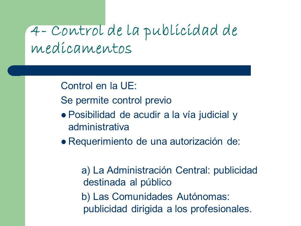 4- Control de la publicidad de medicamentos