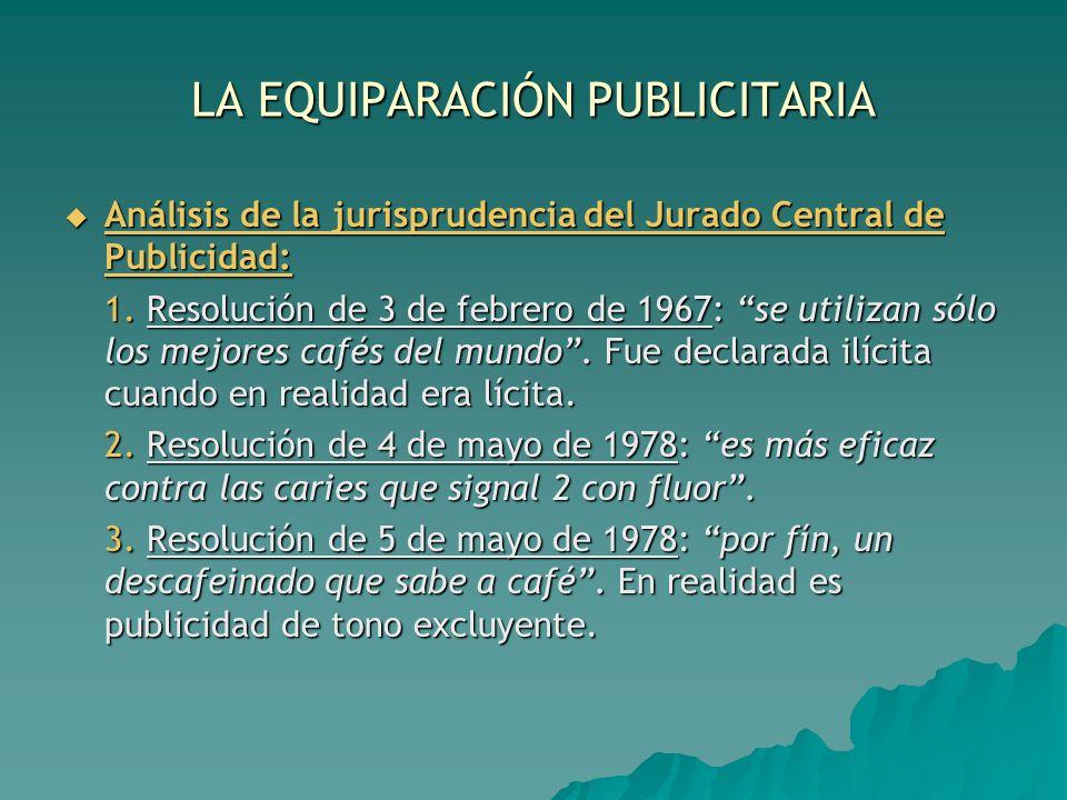 LA EQUIPARACIÓN PUBLICITARIA
