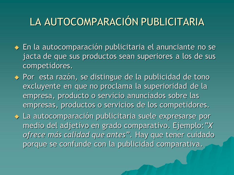 LA AUTOCOMPARACIÓN PUBLICITARIA