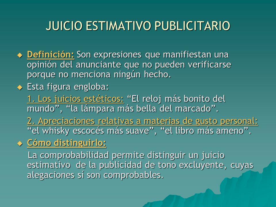 JUICIO ESTIMATIVO PUBLICITARIO
