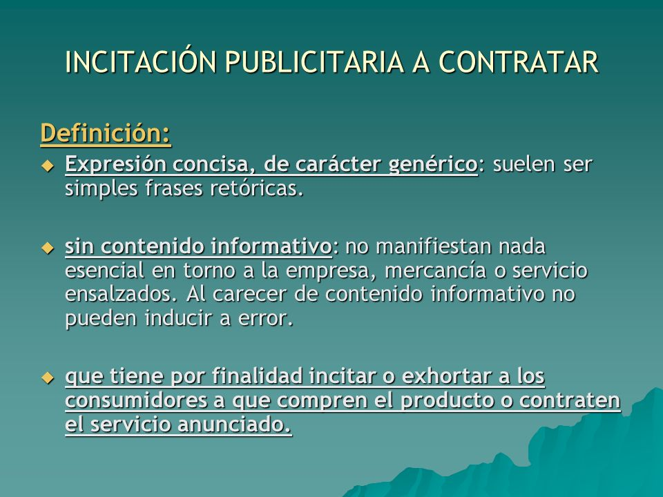 INCITACIÓN PUBLICITARIA A CONTRATAR