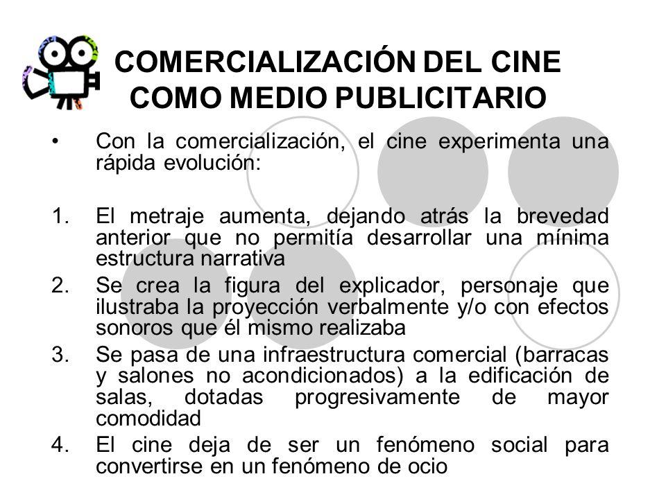 COMERCIALIZACIÓN DEL CINE COMO MEDIO PUBLICITARIO