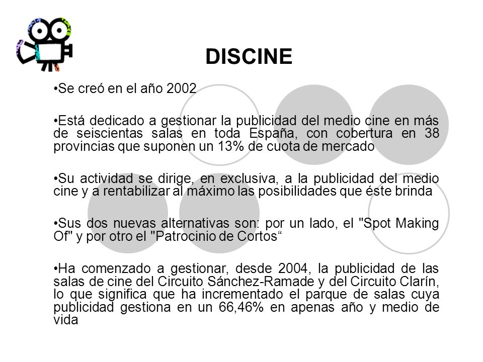 DISCINE Se creó en el año 2002