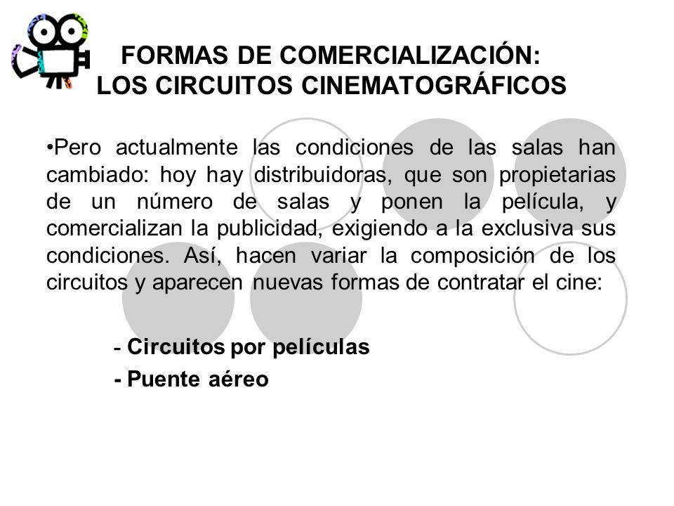 FORMAS DE COMERCIALIZACIÓN: LOS CIRCUITOS CINEMATOGRÁFICOS