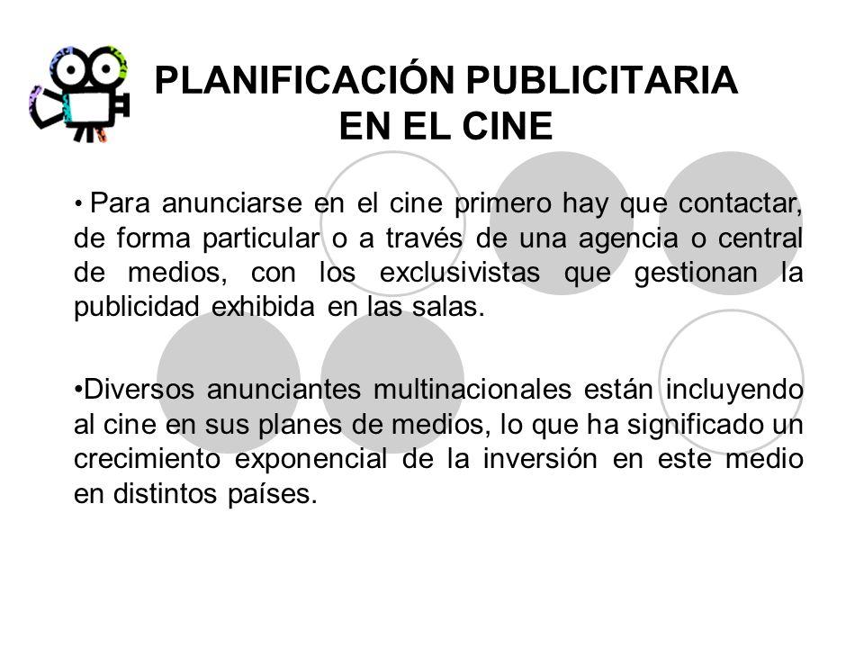 PLANIFICACIÓN PUBLICITARIA EN EL CINE