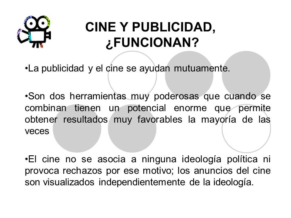 CINE Y PUBLICIDAD, ¿FUNCIONAN