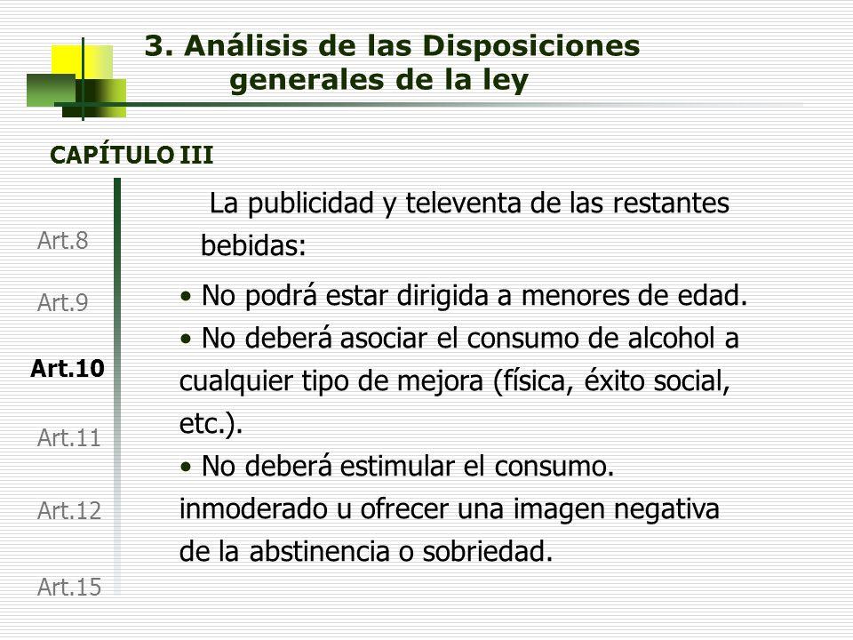 3. Análisis de las Disposiciones generales de la ley