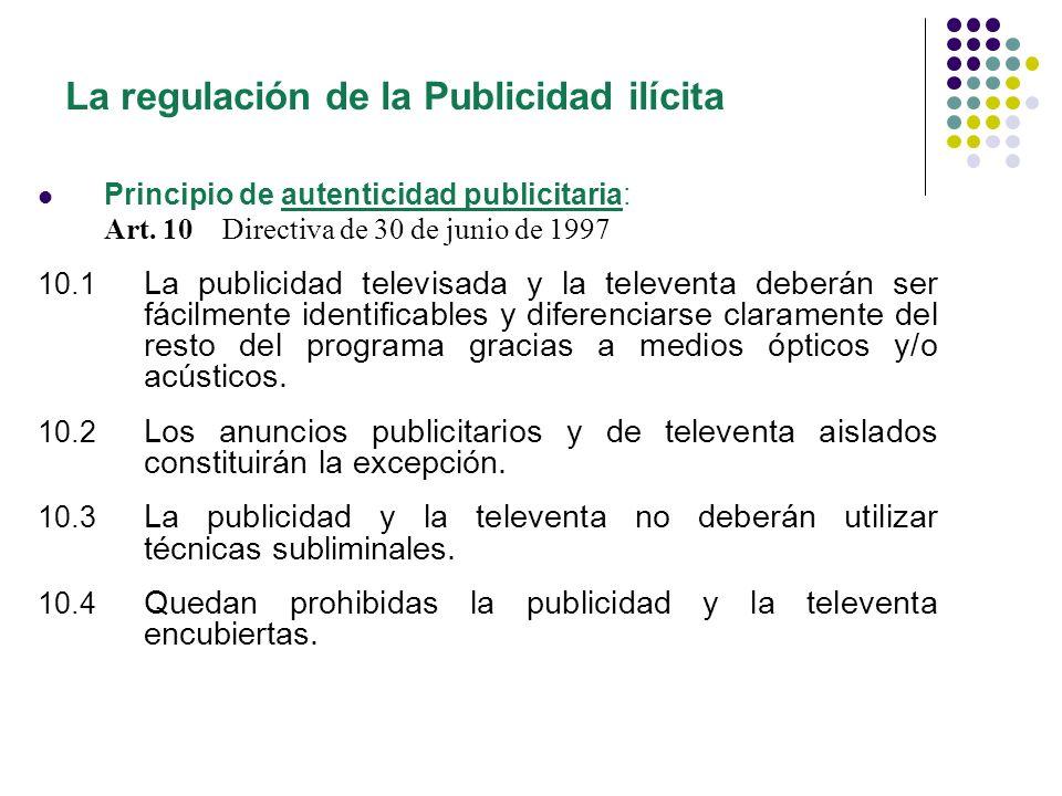 La regulación de la Publicidad ilícita