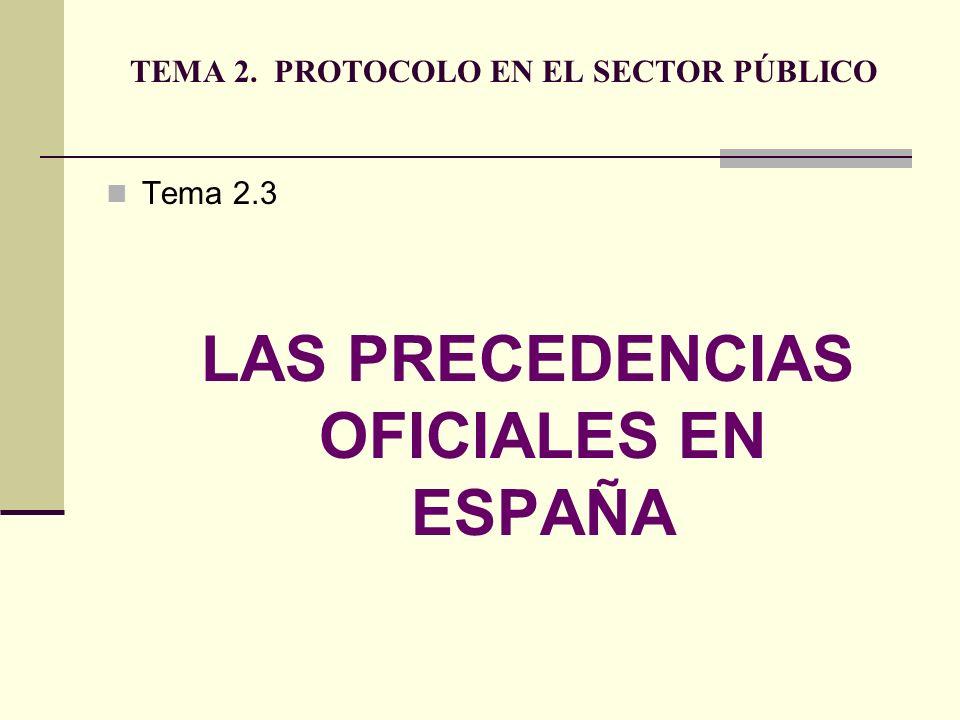 TEMA 2. PROTOCOLO EN EL SECTOR PÚBLICO