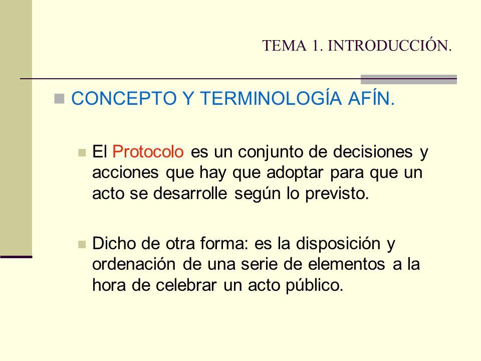 CONCEPTO Y TERMINOLOGÍA AFÍN.