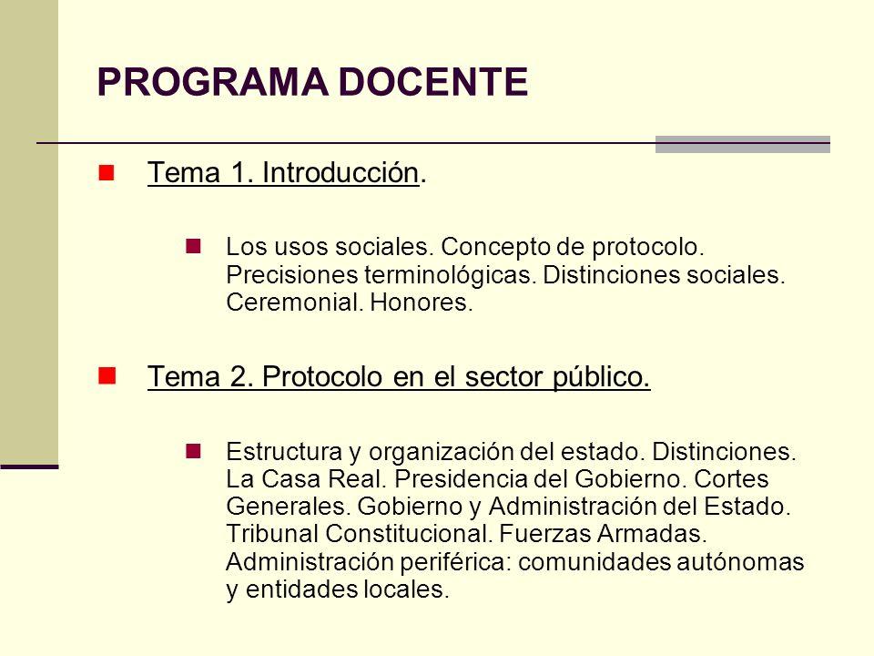 PROGRAMA DOCENTE Tema 1. Introducción.