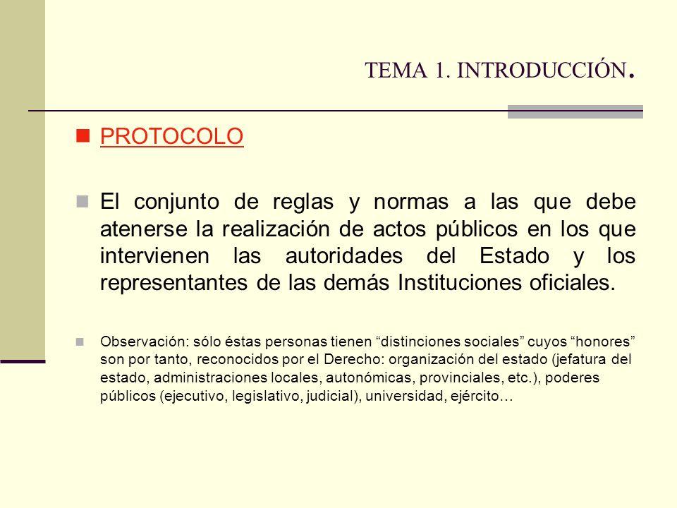 TEMA 1. INTRODUCCIÓN. PROTOCOLO
