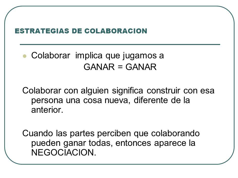 ESTRATEGIAS DE COLABORACION