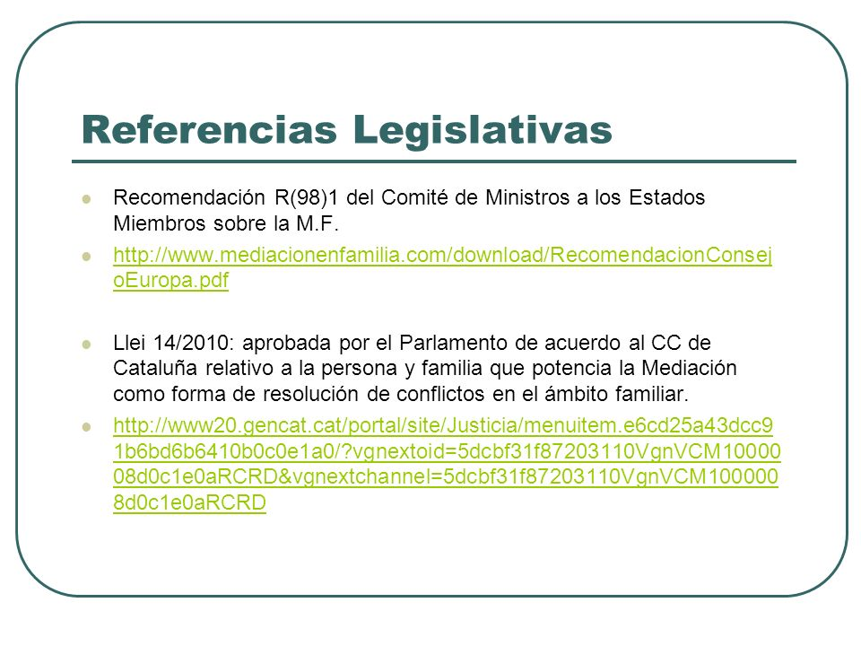 Referencias Legislativas