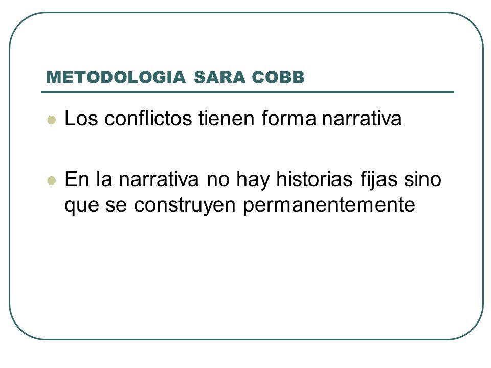 Los conflictos tienen forma narrativa