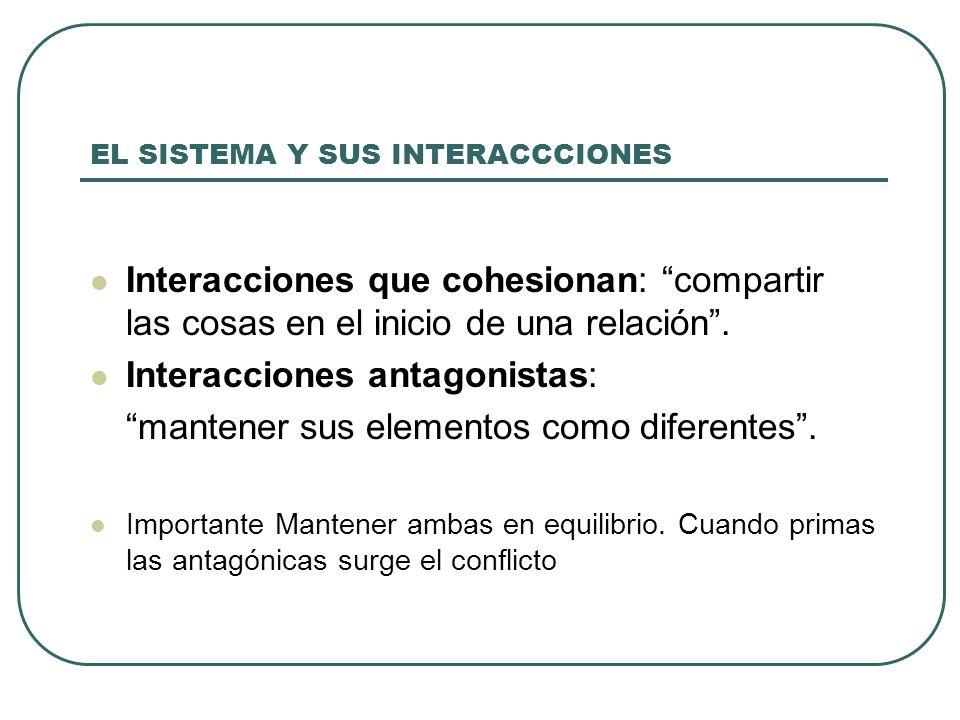 EL SISTEMA Y SUS INTERACCCIONES