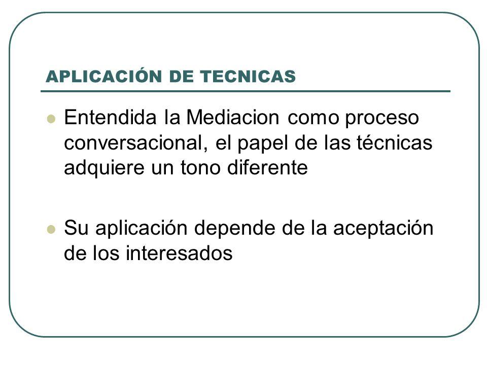 APLICACIÓN DE TECNICAS