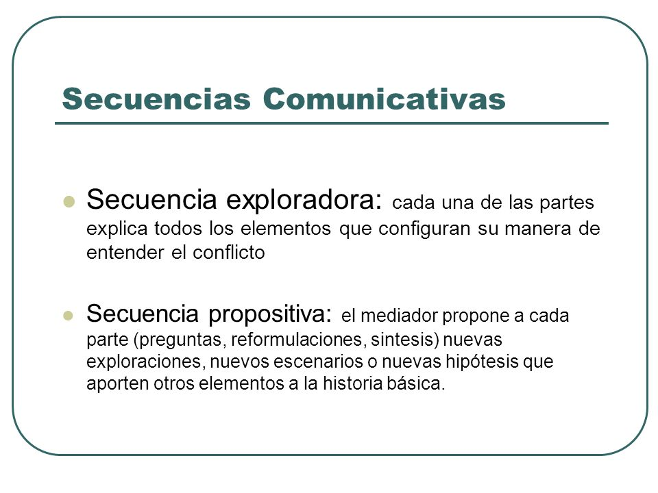 Secuencias Comunicativas