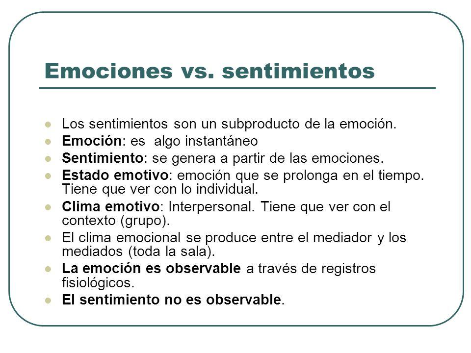 Emociones vs. sentimientos