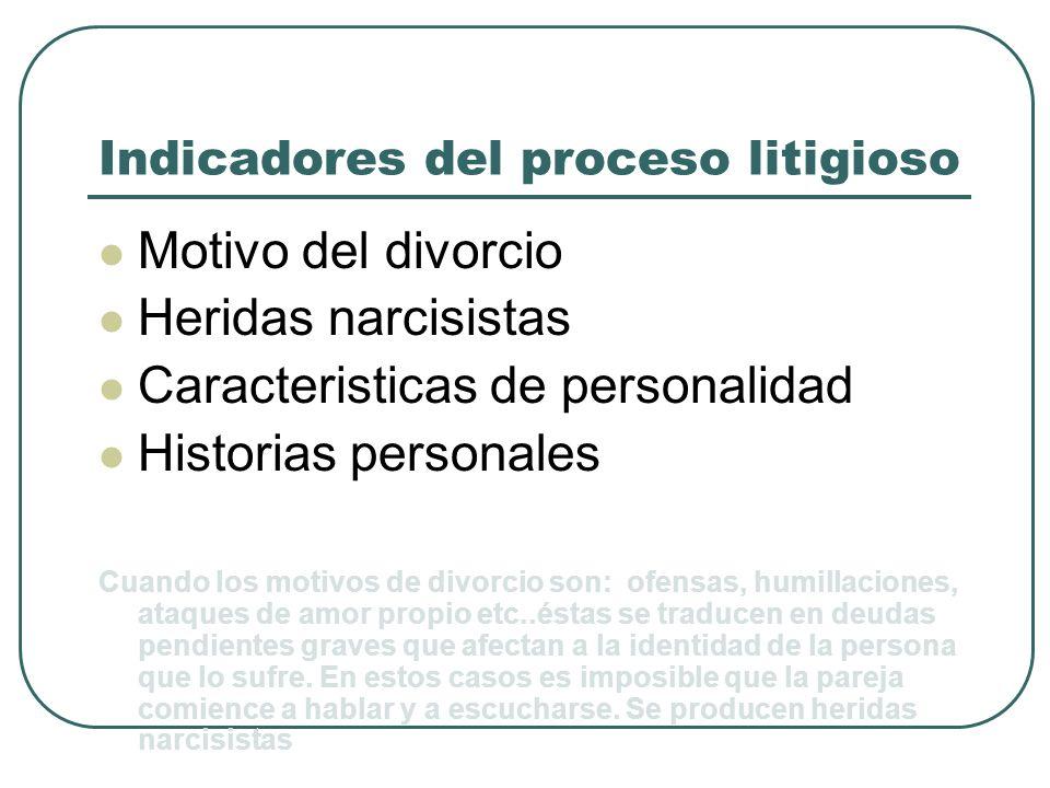 Indicadores del proceso litigioso