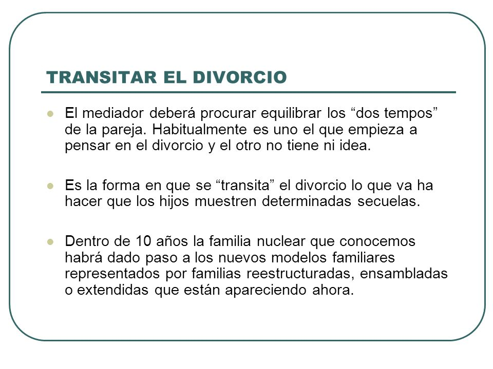 TRANSITAR EL DIVORCIO