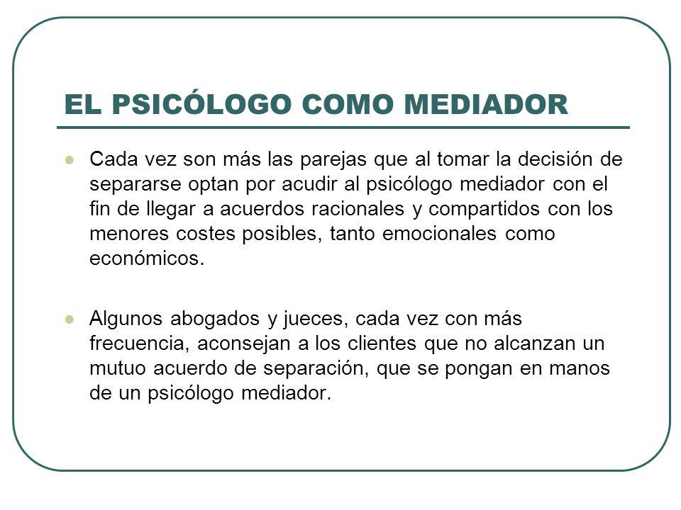 EL PSICÓLOGO COMO MEDIADOR