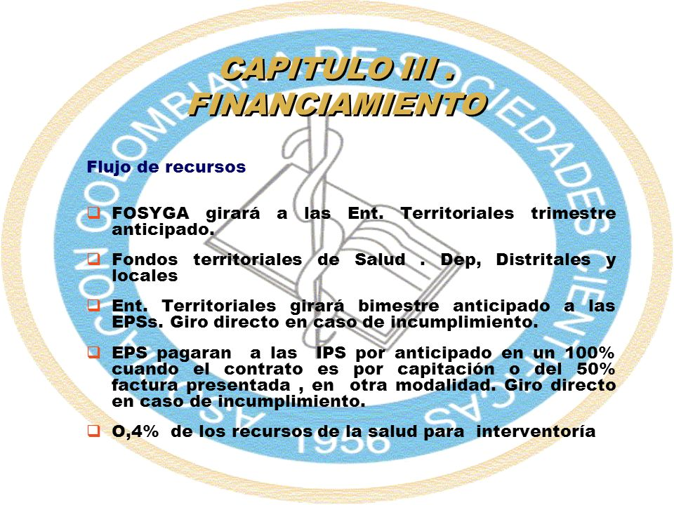 CAPITULO III . FINANCIAMIENTO