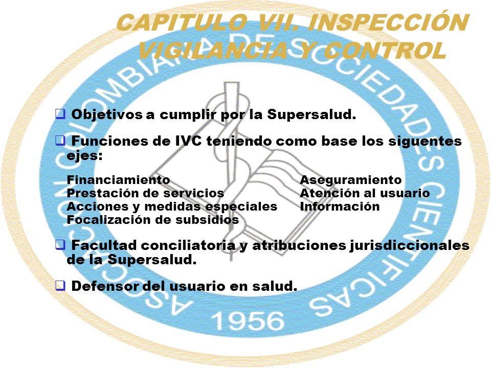 CAPITULO VII. INSPECCIÓN VIGILANCIA Y CONTROL