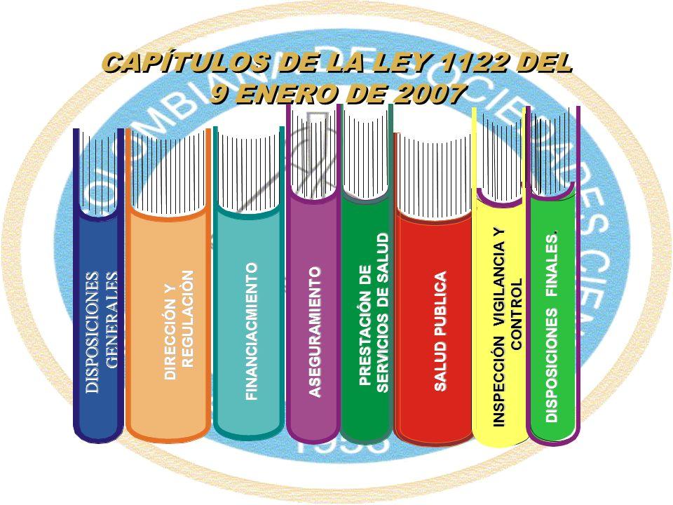 CAPÍTULOS DE LA LEY 1122 DEL 9 ENERO DE 2007