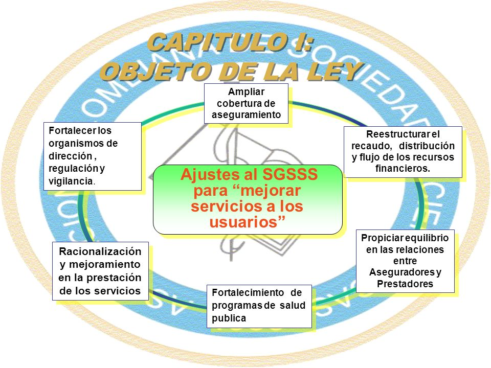 CAPITULO I: OBJETO DE LA LEY