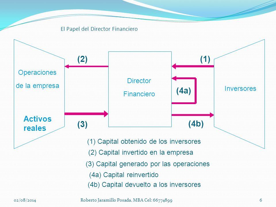 (2) (1) (4a) (3) (4b) Activos reales Operaciones Director