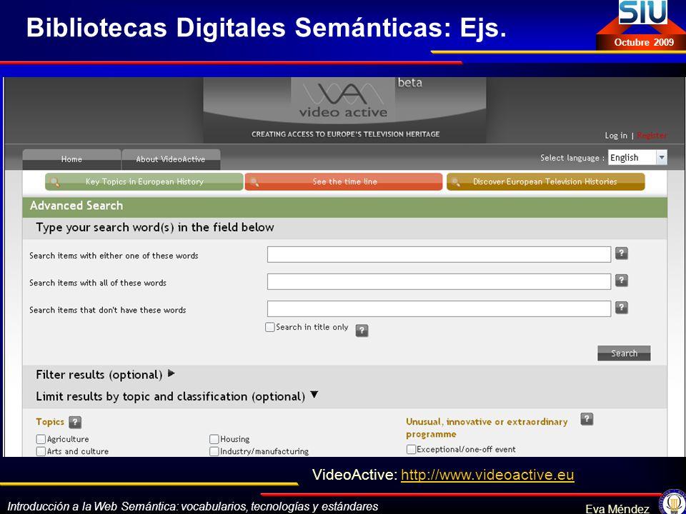 Bibliotecas Digitales Semánticas: Ejs.