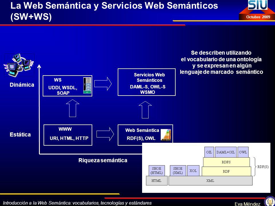 La Web Semántica y Servicios Web Semánticos (SW+WS)